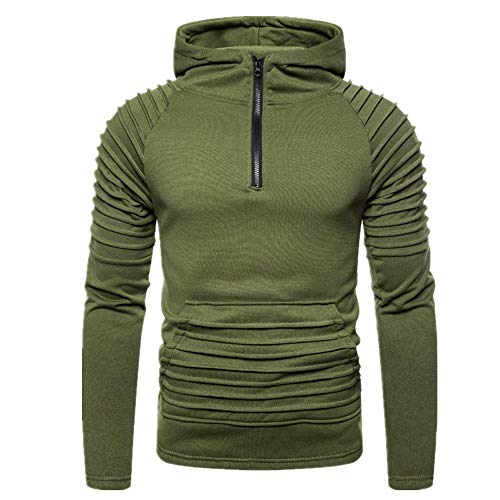 MENAB Herren Kapuzenpullover mit Raglanärmeln und TaschenMänner Langarm Hoodie Hooded Sweatshirt Tops Jacke Mantel OutwearSweatshirt Top Herbst Langarm Plaid Hoodie Mit Kapuze T-Shirt Outwear