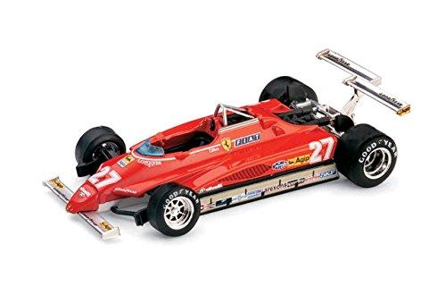 FERRARI 126 C2 G.VILLENEUVE 1982 N.27 3Rd LONG BEACH DISQUALIFY 1:43 Brumm Formula 1 Modello Modellino Die Cast