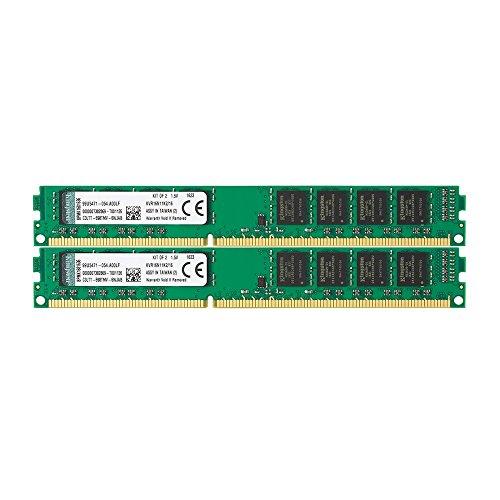 Kingston Technology 16GB Non-ECC CL11 DIMM 1600MHz DDR3 RAM (KVR16N11K2/16) - Kit of 2