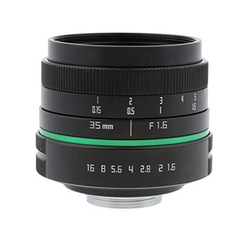 D DOLITY Objetivo APS-C de Enfoque Manual de 35 mm F / 1.6 para Cámaras Sony/Nikon/Canon/Olympus DSLR