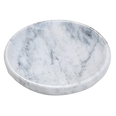 White Marble Soap Dish - Polished and Shiny Marble Dish Holder – Beautifully Crafted Bathroom Accessory – by CraftsOfEgypt