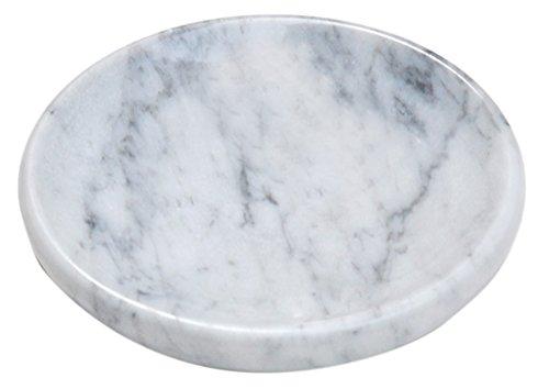 CraftsOfEgypt White Marble Soap Dish - Polished and Shiny Marble Dish Holder