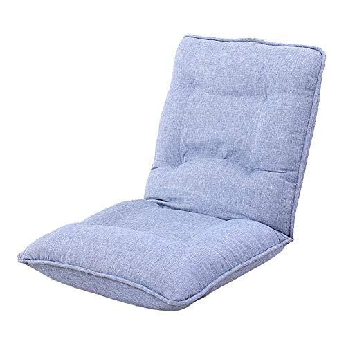 XING ZI LAZY SOFA C-K-P Canapé, Pliant Paresseux canapé inclinable réglable Balcon canapé-lit Coussin de siège (Couleur : Lake Blue)