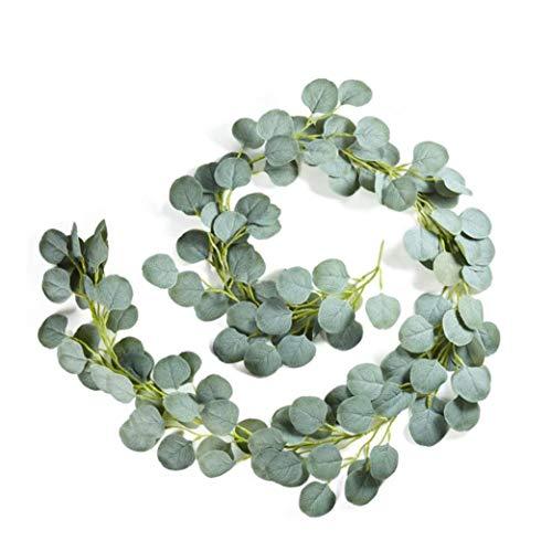 Eucalyptus Wreath Greenery Garland Silk Leaves Vine Artificial Faux 2M Christmas Door Wedding Garden Decor