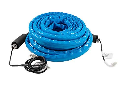 Camco 22912 50 Feet Taste Pure Heated Drinking Water Hose with Thermostat - Lead Free
