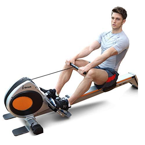 Beintrainer Magnetic Control Rudergerät Bauch Fitness Fitness Rudergerät Bauch Rudergerät Haushalt (Color : Black, Size : 58 * 190 * 50cm)