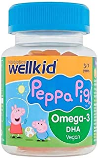 Vitabiotics Wellkid Peppa Pig Omega-3 DHA vegan Soft Jellies, For normal brain function and normal vision of +3 years chil...