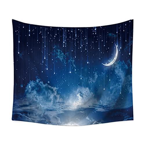 YYRAIN Night Moon Sky Tapiz Toalla De Playa Multifuncional Decoraciones para El Hogar Dormitorio Tela De Fondo Junto A La Cama 90.55x59.05 Inch{230x150cm} A
