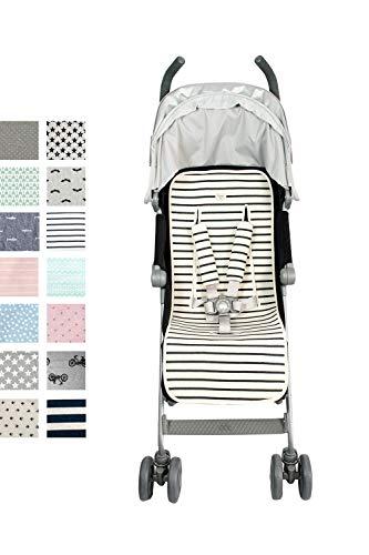 Fundas BCN ® - F219/9702 - Colchoneta universal para silla de paseo - Estampado Biarritz