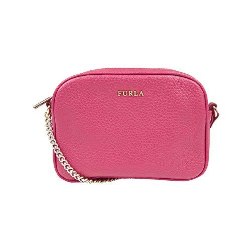 Furla MIKY Mini Pebbled Leather Crossbody Shoulder Bag (Gloss)