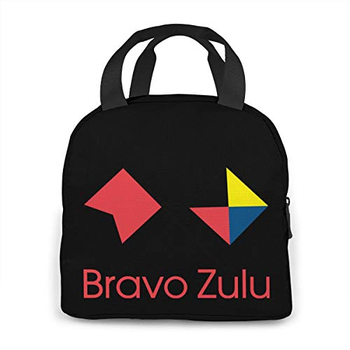 Bravo Zulu Portable Insulated Lunch Bag Waterproof Tote Bento Bag Lunch Tote