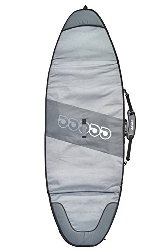 SUP Bag for Wave Boards - Compact SUP Travel Cover - Size 7'6 to 12'6 1 MASSIVE 20mm boosted nose and tail foam zones!! heavyweight 600D water-resistant polycanvas base & silver tarpee upper 7mm waterproof shock absorbing travel specification foam core compact style SUP cover for wave riding style SUP boards