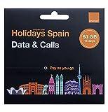 Orange - Tarjeta SIM Prepago Holidays Spain | 60 GB en España | 14 GB de Europa | Activación Solo...