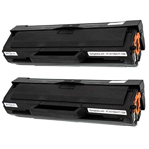 Pure-Color W1106A - Cartucho de tinta compatible con HP 106A W1106 Laser MFP 107w 107a 135a 135wg 135w 137fnw 135ag 107r 137fwg, Laser 107135137 (2 negro, con chips)