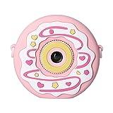Cámara de juguete digital para niños, doble cámara réflex que puede tomar fotos y video, compatible con el modo de juego pequeño, pantalla a color de 2,4 pulgadas para regalos de cumpleaños, rosa