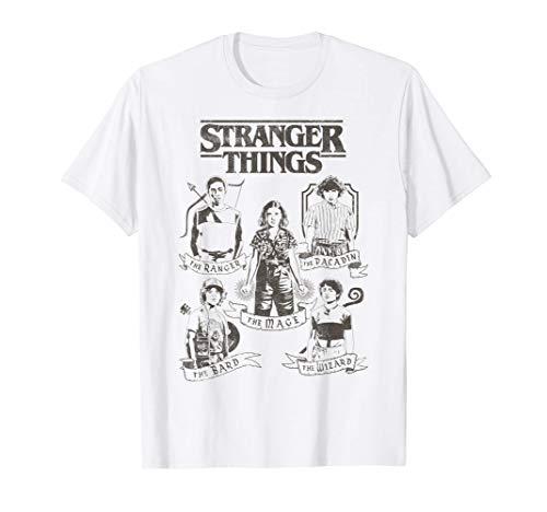 Netflix Stranger Things Group Shot Classes Maglietta