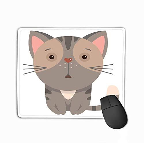 N\A Tappetino per Mouse da Gioco Personalizzato, Disegni di personalità Tappetino per Mouse da Gioco Cartoon Cat Funny Color Cartoon Print Kids Cartoon Cat Funny Color Cartoon