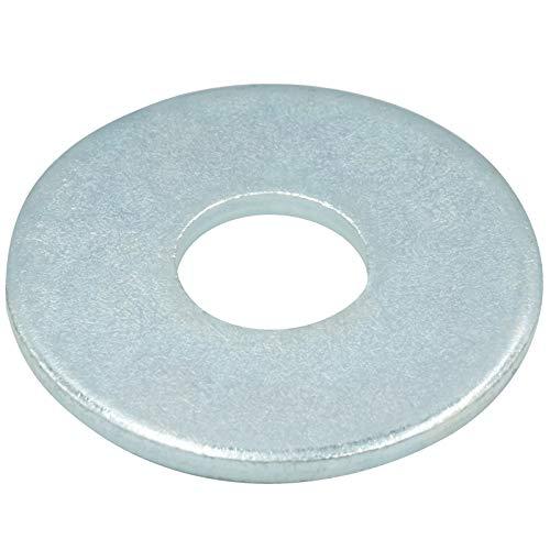Große Unterlegscheiben - M6 - (100 Stück) - Beilagscheiben - DIN 9021 Form A - galvanisch verzinkt - SC9021 | SC-Normteile