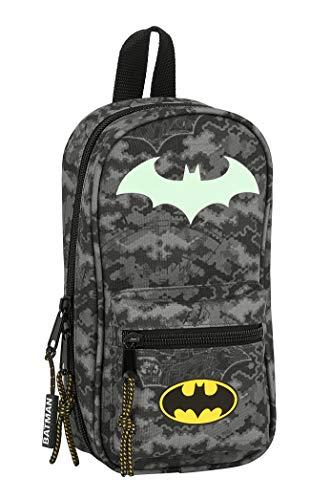 Safta 412004747 Neceser con 4 Estuches y Útiles de Batman Night, 120x50x230mm