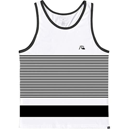 Quiksilver Herren Tijuana Stripe Tank Hemd, weiß, Mittel