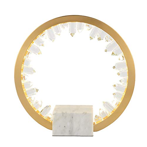 Smart led Lámpara Post-Moderna Lámpara de Mesa de Cristal de Lujo Sala de Estar Iceberg LED lámpara Dormitorio Lámpara de Contador de Noche 36 * 36 cm (Tres Luces de Color)