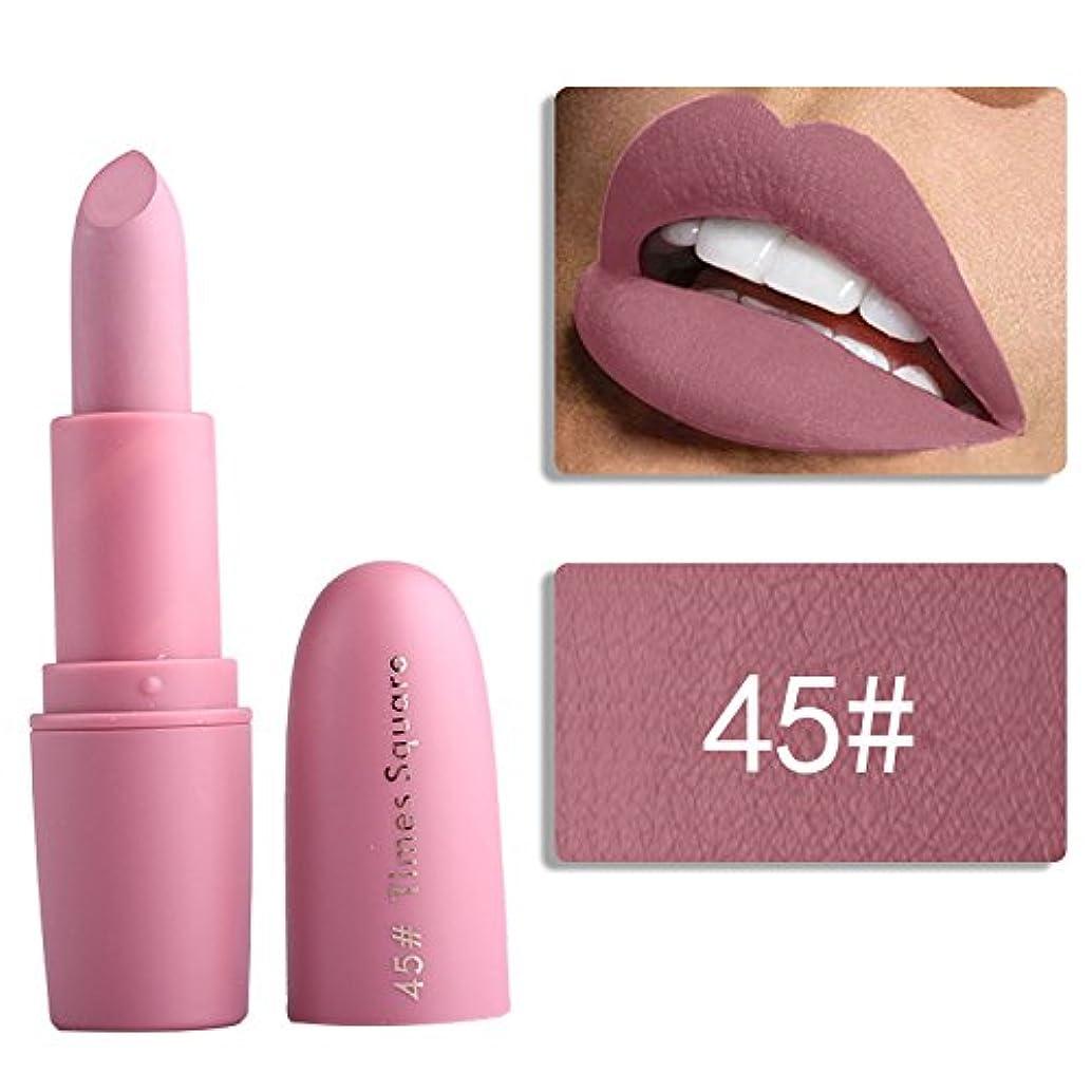 作曲するお風呂を持っている一貫したMiss Rose Nude Lipstick 22 colors Waterproof Vampire Brown Beauty Baby Lips Batom Matte lipstick Makeup Tats Eugenie Margherita