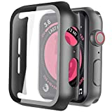 Recata Noir PC Coque Compatible avec Apple Watch Serie 6 Se Series 5 Série 4 44mm, Protection...