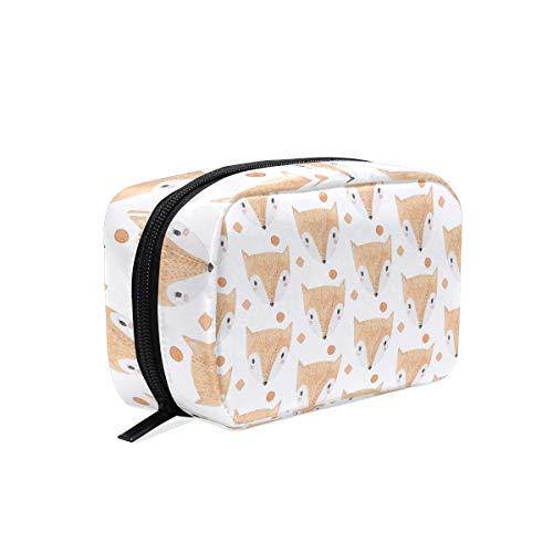 LIUBT Animal Fox Face Pattern Cosméticos Bolsa de viaje Neceser Maquillaje Bolsa Multifunción Organizador para Mujeres