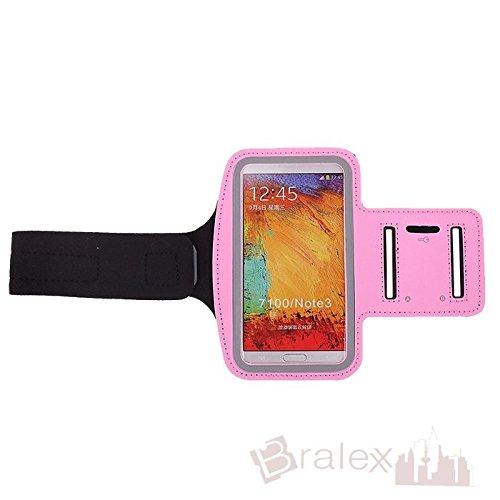 BRALEXX Sporttasche Armtasche Smartphonetasche passend für Wiko Fever Special Edition, Rosa