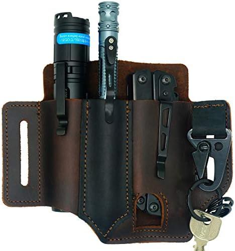 WILNARA Leather Edc Tools Pocket Holster Sheath Leather Everyday Carry Retro Sheath for Belt product image