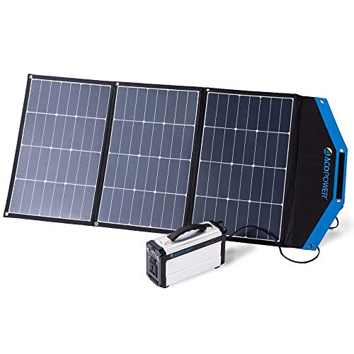ACOPOWER 105W 12V Foldable and Portable Solar Panel Kit with 10A Charge Controller (3x35W)