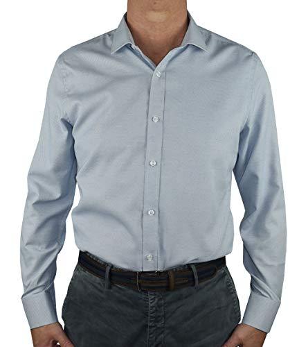 1stAmerican Elegante Camicia Uomo Manica Lunga - Camicie da Lavoro - 100% Cotone Silk Touch Regular Fit Collo all'Italiana - No Stiro TG Fino alla XXXL