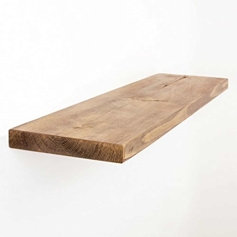 Funky Chunky Furniture 22 x 3,5 cm Glatte Holz Wandregal, Teak, 160 cm