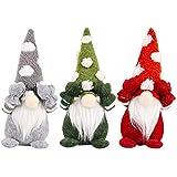 FLYAND キッズギフトクリスマスホリデーパーティーの装飾のための3枚のクリスマスノームの装飾ぬいぐるみノーム飾りぬいぐるみサンタクロースのおもちゃ