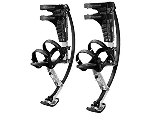 Skyrunner-Iconiciris Store Iconiciris Kids/Child Youth Kangaroo Shoes Jumping Stilts Fitness Exercise (66-110lbs/30~50kg) (black)