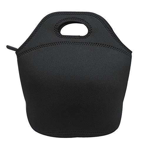 Fliyeong Neopren-Lunch-Tasche, tragbar, wasserdicht, Picknick-Tasche, Reise-Outdoor-Handtasche, Lebensmittel-Aufbewahrungsbehälter, schwarz, kreativ und nützlich