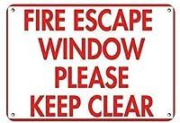非常階段窓をクリアに保つ金属錫標識通知道路交通道路危険警告耐久性、防水性、防錆性