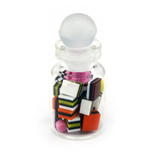 MyTinyWorld Miniature Fait Liquorice Allsorts dans Un Bocal en Verre