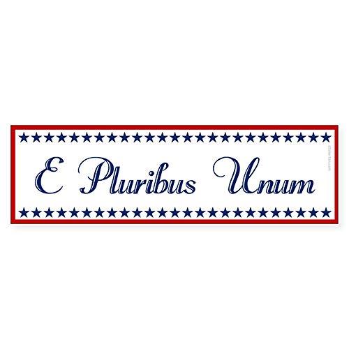 "CafePress E Pluribus Unum Bumper Sticker 10""x3"" Rectangle Bumper Sticker Car Decal"