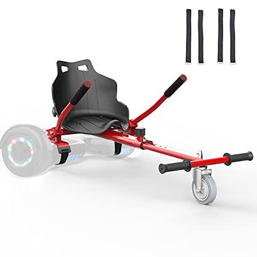 Go Kart Hoverkart per Hoverboard 6.5' 8' 8.5' 10' Overboard Monopattino Elettrico Overkart Accessori di Scooter (Rosso)