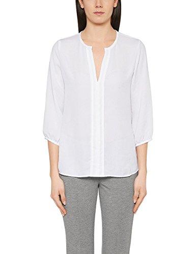 Marc Cain Essentials Damen Bluse +E5132W38, Weiß (White 100), 40 (4)
