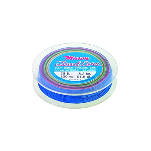 MASON 18# 100YD 20 COLORS LEADCORE DEEP WATER TROLLING LINE