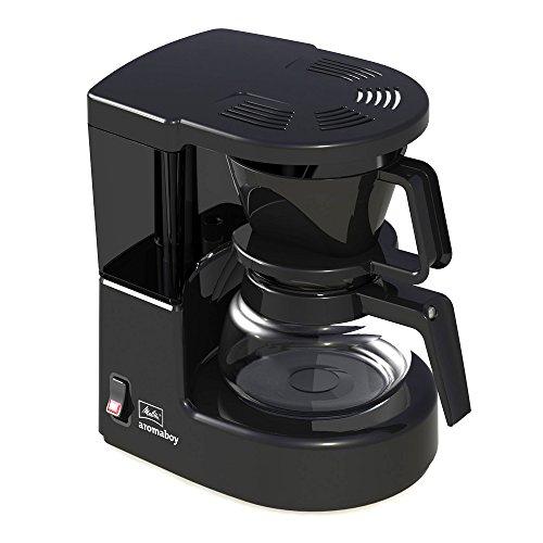 Melitta Aromaboy 1015-02, Kleine Filterkaffeemaschine mit Glaskanne, Schwarz Filter-Kaffeemaschine, Kunststoff
