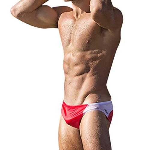 Zolimx Block Swim Shorts,Costumi da Bagno Uomo Slip,Uomo Costume da Bagno Elastico Boxershorts con Taschino E Coulisse Pantaloncini da Surf Uomo