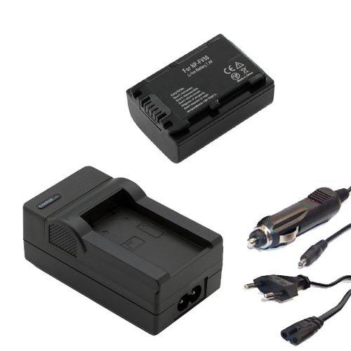 Akku + Ladegerät Set für Sony HDR-HC3E, HC5E, HC7E, HC9E, HDR-PJ10E, HDR-PJ200E, HDR-PJ220E, HDR-PJ260VE, HDR-PJ30VE, HDR-PJ320E, HDR-PJ330E, HDR-PJ420VE, HDR-PJ50VE, HDR-PJ530E, HDR-PJ580VE, HDR-PJ650VE, HDR-PJ740VE, HDR-PJ780VE, HDR-PJ810E - 700mAh Li-ion