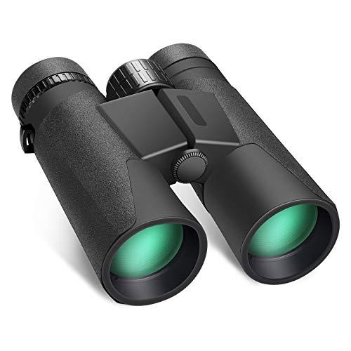 Neewer 12x42 Binocolo Impermeabile con Visione Chiara in Bassa Luminosità, con BAK4 FMC Obiettivo, da 0,59kg con Oculare Grande per Osservazione di Uccelli Caccia Viaggio Escursioni Sport ecc.
