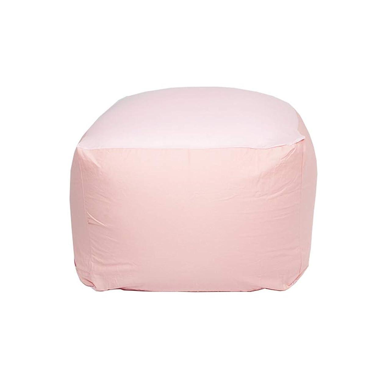 大邸宅正規化サーマルソファ 泡の家具のビーンバッグ - 柔らかい取り外し可能な綿および麻布の家具のソファーの椅子が付いているソファー ホームソファー (色 : ピンク, サイズ : 65*65*43cm)