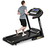 Famistar 3.5HP Folding Treadmill, 15% Auto Incline 300LBS Capacity Running Machine with Smart Shock-Absorbing System, 9.94 MPH, 12 Programs, Easy Assembly&Space Saving for Home Office Workout