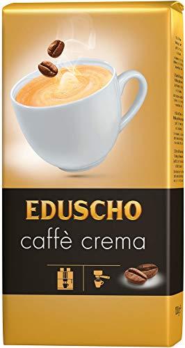 Eduscho Cafe Crema Kaffee | Hochwertiger Kaffee aus ganzen Bohnen im 1000g Beutel | Ideal für Kaffeevollautomaten | Toller Geschmack von Eduscho