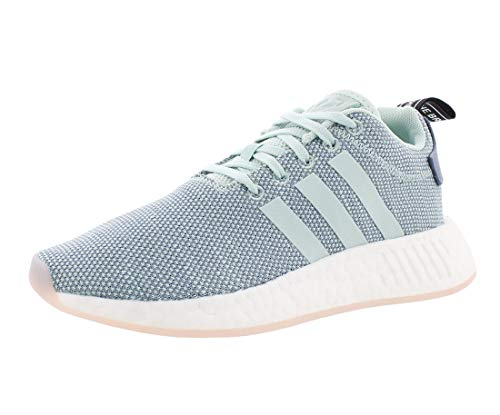 adidas womens Nmd_r2 road running shoes, Raw Steel, Ash Green, Footwear White, 9.5 US
